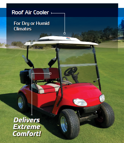 Picture of Golf Car with Roof Air cooler